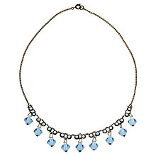 Buy Alice Joseph Vintage 1920s Art Deco Necklace, Blue Online at johnlewis.com