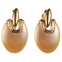 Buy Alice Joseph Vintage 1980s Napier Faux Pearl Clip-On Earrings, Gold / Brown Online at johnlewis.com