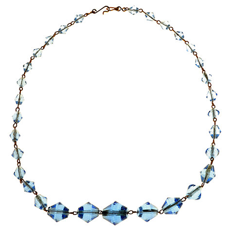 Buy Alice Joseph Vintage 1930s Blue Crystal Facet Necklace Online at johnlewis.com