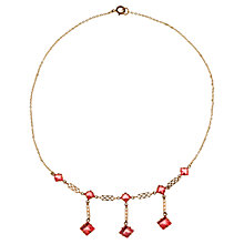 Buy Alice Joseph Vintage 1930s Crystal Drop Necklace, Pink Online at johnlewis.com
