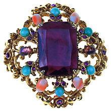Buy Alice Joseph Vintage 1960s Florenza Victorian Revival Filigree Brooch, Purple Online at johnlewis.com