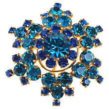 Buy Alice Joseph Vintage Austrian Diamante Cluster Gilt Brooch, Kingfisher Blue Online at johnlewis.com