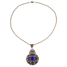 Buy Alice Joseph Vintage 1930s Glass Cabochon Beaded Filigree Pendant, Blue Online at johnlewis.com