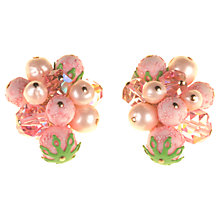 Buy Alice Joseph Vintage 1950s Vendome Bead Cluster Earrings, Pink Online at johnlewis.com