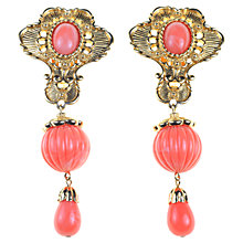Buy Alice Joseph Vintage 1990s Jose Maria Berrera Gilt Drop Earrings, Coral Online at johnlewis.com