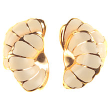 Buy Alice Joseph Vintage Grosse Enamel Shell Shape Clip-On Earrings, Cream Online at johnlewis.com