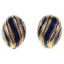 Buy Alice Joseph Vintage Nina Ricci Enamel Stripe Gilt Earrings, Blue Online at johnlewis.com
