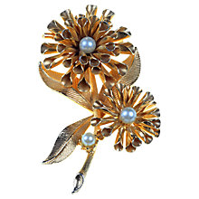 Buy Alice Joseph Vintage 1960s Fluted Flower Faux Pearl Brooch, Gold Online at johnlewis.com