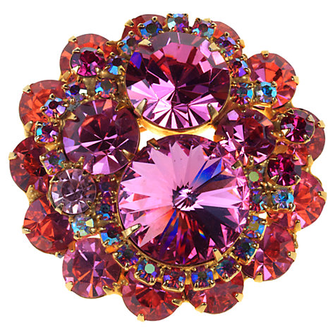 Buy Alice Joseph Vintage 1960s Delizza & Elster Diamnte Brooch, Pink Online at johnlewis.com