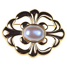Buy Alice Joseph Vintage Monet Faux Pearl Oval Brooch, White Online at johnlewis.com