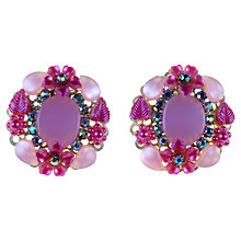 Buy Alice Joseph Vintage 1960s American Thermoplastic Aurora Borealis Clip-On Earrings, Purple Online at johnlewis.com