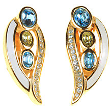 Buy Alice Joseph Vintage Grosse Diamante and Enamel Clip-On Earrings, Blue Online at johnlewis.com