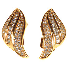 Buy Alice Joseph Vintage Grosse Diamante Clip-On Earrings, Gold Online at johnlewis.com