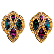 Buy Alice Joseph Vintage 1990s Napier Textured Gilt Plated Coloured Diamante Earrings, Gold Online at johnlewis.com