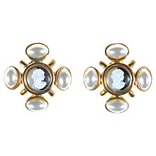 Buy Alice Joseph Vintage Acrylic Cameo Pearl Drop Earrings, White Online at johnlewis.com