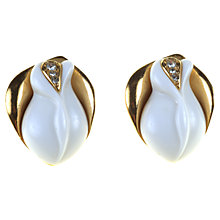 Buy Alice Joseph Vintage 1989 Kenneth J Lane Rose Stud Lucite Earrings, White Online at johnlewis.com