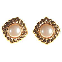 Buy Alice Joseph Vintage Monet Faux Pearl Centre Clip-On Earrings, Gold Online at johnlewis.com