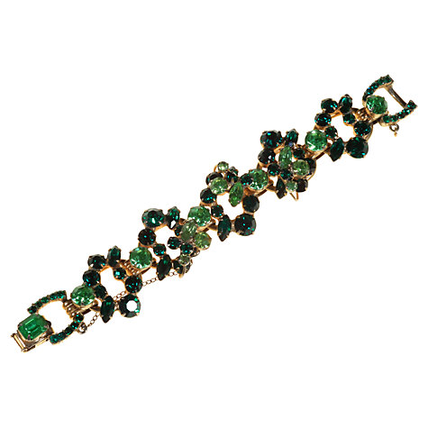 Buy Alice Joseph Vintage 1960s Delizza & Elster Juliana Gilt Plated Bracelet, Green Online at johnlewis.com
