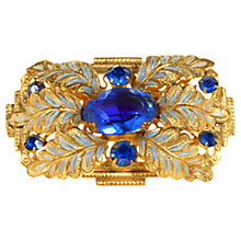 Buy Alice Joseph Vintage 1920s Gilt Plated Diamante Brooch, Blue Online at johnlewis.com