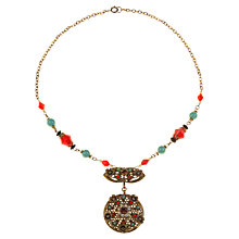 Buy Alice Joseph Vintage 1930s Gilt Plated Beaded Necklace, Red Online at johnlewis.com