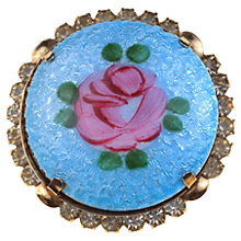 Buy Alice Joseph Vintage 1950s Victorian Revival Enamel Brooch, Blue Online at johnlewis.com