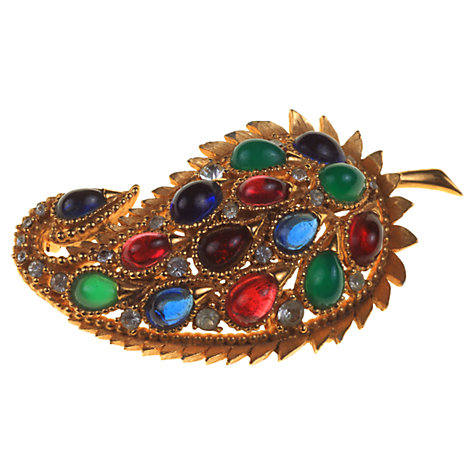 Buy Alice Joseph Vintage Bijoux Sandra Gilt Plated Diamante Brooch, Multi Online at johnlewis.com