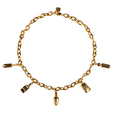 Buy Alice Joseph Vintage 1980s Givenchy Gold Plated Perfume Bottles Necklace Online at johnlewis.com