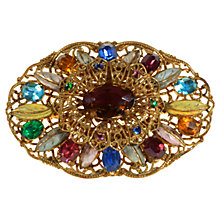 Buy Alice Joseph Vintage 1920s Gilt Plated Bohemian Enamel Brooch, Multi Online at johnlewis.com