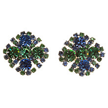 Buy Alice Joseph Vintage 1950s Kramer Diamante Clip-On Earrings, Green Online at johnlewis.com