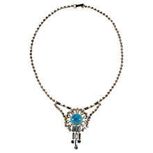 Buy Alice Joseph Vintage 1950s Turquoise Stone Baguette Drop Necklace Online at johnlewis.com
