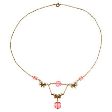 Buy Alice Joseph Vintage 1930s Filigree Butterfly Necklace, Pink Online at johnlewis.com
