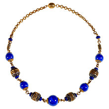 Buy Alice Joseph Vintage 1920s Boho Blue Bead Necklace Online at johnlewis.com