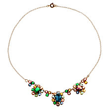 Buy Alice Joseph Vintage 1910s Boho Diamante Silver Tone Necklace, Multi Online at johnlewis.com