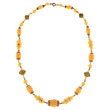Buy Alice Joseph Vintage 1930s Bohemian Necklace, Yellow Online at johnlewis.com