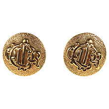 Buy Alice Joseph Vintage Christian Dior Vintage Stud Earrings, Gold Online at johnlewis.com