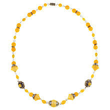 Buy Alice Joseph Vintage 1930s Art Deco Beaded Necklace, Yellow Online at johnlewis.com