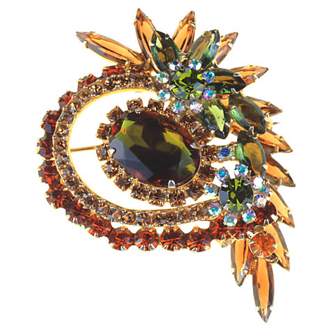 Buy Alice Joseph Vintage 1960s DeLizza & Elster Mixed Diamante Multi-Dimensional Brooch Online at johnlewis.com