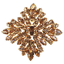 Buy Alice Joseph Vintage Sherman Diamante Brooch, Topaz Online at johnlewis.com