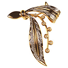 Buy Alice Joseph Vintage 1960s Faux Pearl Gilt Plated Brooch, Gold Online at johnlewis.com