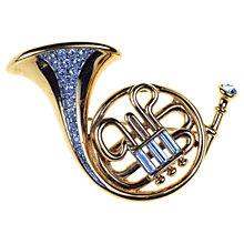 Buy Alice Joseph Vintage 1980s Swarovski French Horn Brooch, Gold Online at johnlewis.com