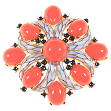 Buy Alice Joseph Vintage 1960s Trifari Cabachon Gilt Plated Brooch, Coral Online at johnlewis.com