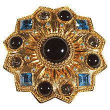 Buy Alice Joseph Vintage 1980s Sphinx Sunburst Textured Gilt Plated Brooch, Black Online at johnlewis.com