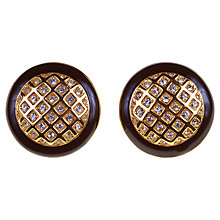 Buy Alice Joseph Vintage 1980s Monet Enamel Border Diamante Clip-On Earrings Online at johnlewis.com
