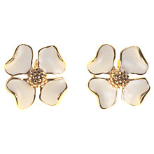 Buy Alice Joseph Vintage Trifari Enamel Flower Stud Earrings, Cream Online at johnlewis.com