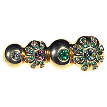 Buy Alice Joseph Vintage Swarovski Diamante Gilt Plated Brooch, Green Online at johnlewis.com