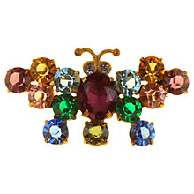 Buy Alice Joseph Vintage 1930s Bohemian Diamante Butterfly Brooch, Multi Online at johnlewis.com