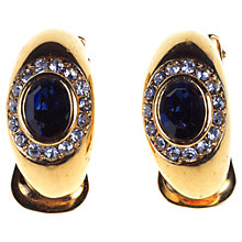 Buy Alice Joseph Vintage Diamante Gilt Clip-On Earrings, Blue Online at johnlewis.com