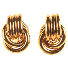 Buy Alice Joseph Vintage 1980s Nina Ricci Double Knot Gilt Clip-On Earrings, Gold Online at johnlewis.com