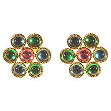 Buy Alice Joseph Vintage 1992 Napier Screw Clip Glass Cabachon Earrings, Green Online at johnlewis.com
