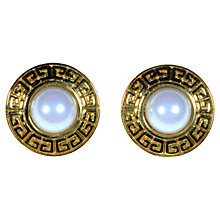 Buy Alice Joseph Vintage 1980s Givenchy Pearl Clip-On Gilt Plated Earrings, Gold Online at johnlewis.com